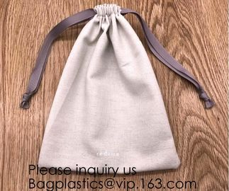 Packs Cotton Muslin Bags with Drawstring, Natural Color,handle cotton eco friendly super strong great choice for daily u