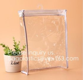 Clear PVC Zipper Pen Pencil Case, T-SHIRT  PAC Pencil Bag Makeup Pouch, garment pouch bag, Organizer, Travel Case, cloth