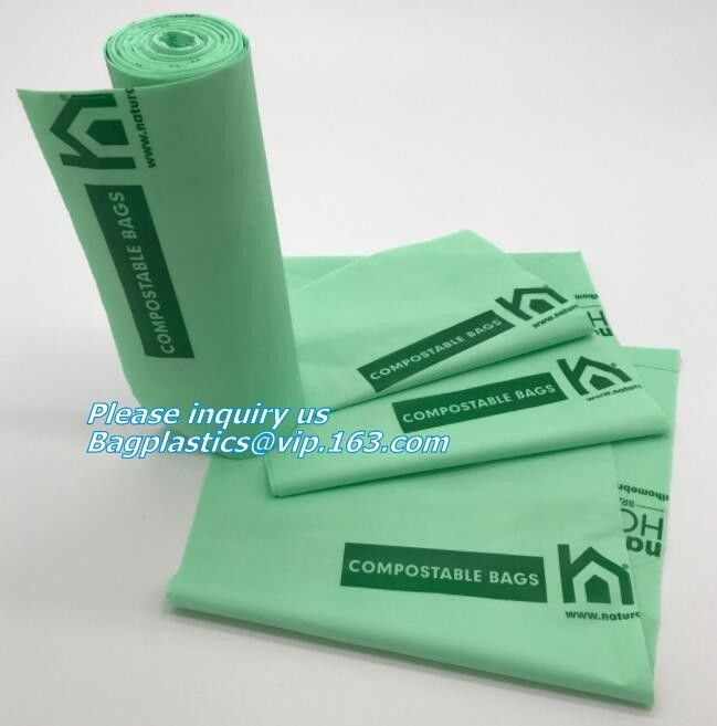 En13432 certified custom printed wholesale biodegradable compostable plastic pharmacy bag with singlet handle BAGS