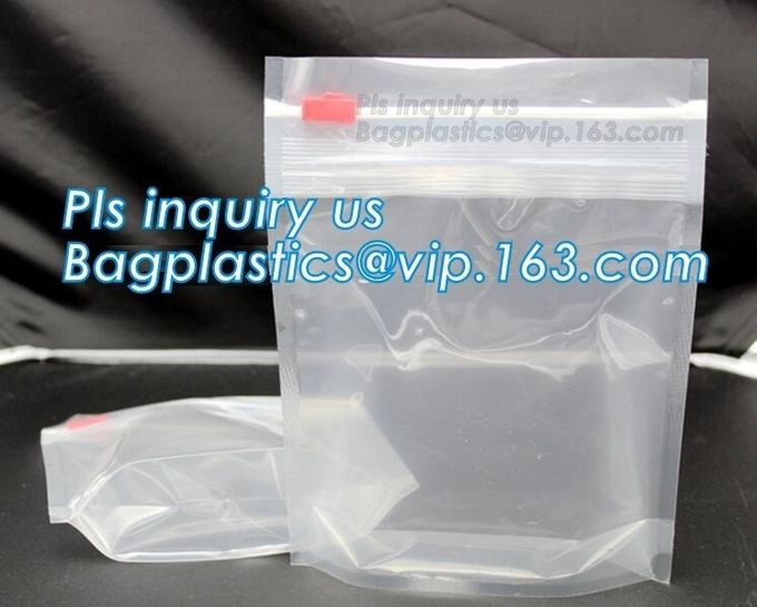 bag with plastic zipper and slider OEM orders are welcome, slider zip frosted soft touch plastic bag for T-Shirt packagi