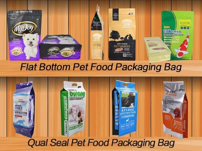 resealable packaging bags dog food snack bag pet food pouch with slider Packaging Pouch Bag animal feed bag, slider lock