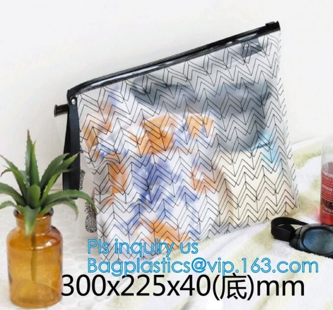 Transparent Sundry Kit PVC Cosmetic Bag, Bag with Plastic Zipper and Slider Wash bag, slider lock zip pouch travel cosme