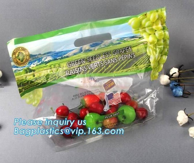 Reclosable Fresh Fruit Cucumber Packaging Bag with Air Hole, Fruit Protect Peach Bag/kiwi Fruit Bag, fresh fruit bag wit