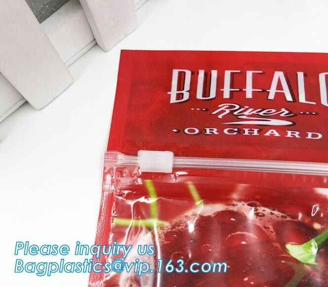 printed slider zipper grape packing bag, CPP plastic stand up pouch slider zip lock protection fruit bag for grape, slid