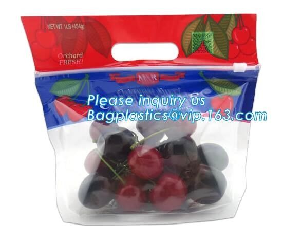 Food service grape packing bag with slider/Red grapes packing bag/Plastic fruit bag, bag for fruit and vegetable package
