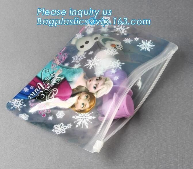 Trim PVC Cosmetic Bag Waterproof Slider Gusset Zipper Makeup Case Beauty Pouch, Logo printed luxury holographic PVC make