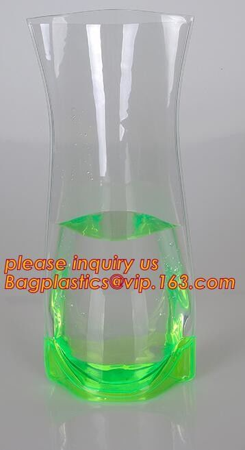 Square Plastic Vaseplastic Flower Vases Transparent Pvc Bag Vase
