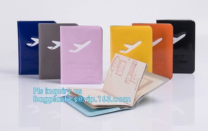 Promotional Customized color PVC travel Passport Cover, Ticket Holder Travel Plastic Pvc Passport Cover, Eco-friendly pv