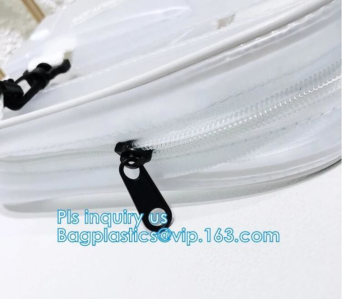 Vintage style clear PVC crossbody shoulder shopping bag, Ladies Handbag Clear Crossbody Shoulder Bag Sets, Reusable wome
