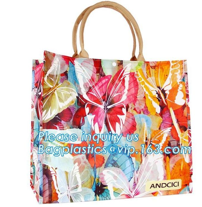 custom Design logo printed pvc clear plastic bags, professional printing shopping bag plastic bag, Biodegradable Recycla