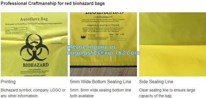 Customized HDPE t-shirt plastic garbage bags for medical