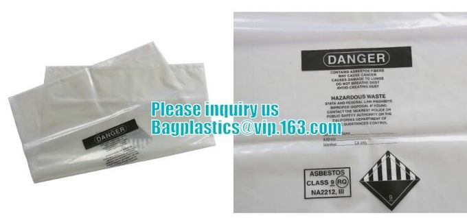 Disposal Asbestos Waste Bags ,Plastic Bags for Asbestos fibers,asbestos waste packaging plastic garbage bag BAGEASE PAC