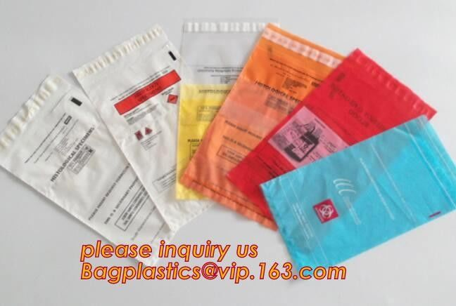 biohazard specimen ziplock bag with pocket, recycled custom printed ldpe 3 layers specimen bag ziplock bag, pac, pacrite