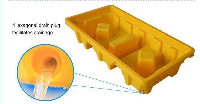 Standard sizes HDPE large collapsible plastic pallet box, Heavy duty industry storage use collapsible plastic mega bin