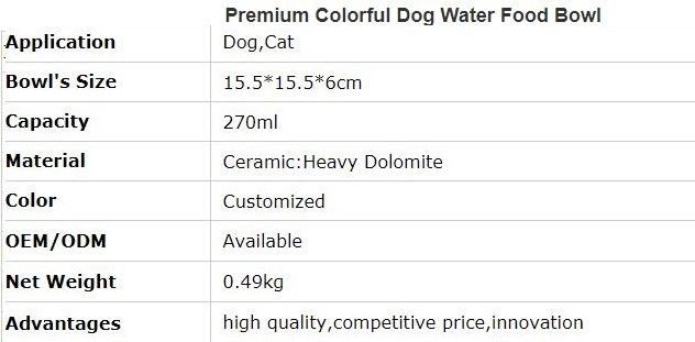 Lovely Personalized portable pet dog food water bowl ceramic plastic, Drink Dispenser Dog Cat Feeder Water Bowl, pet bow