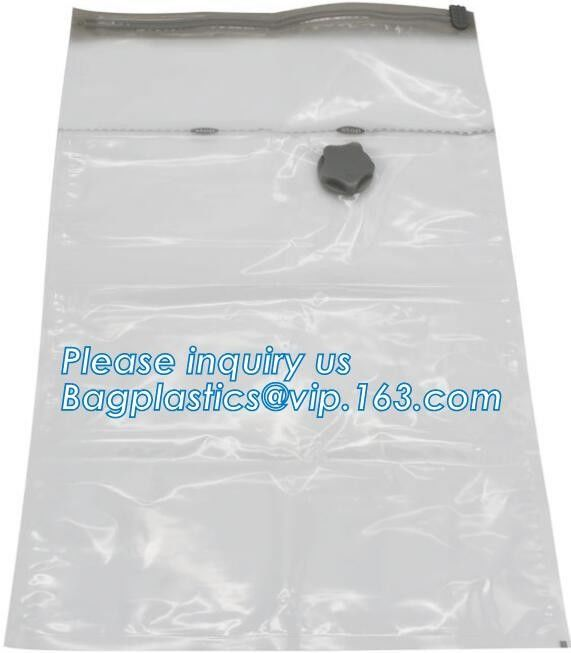vacuum seal storage bags for down jacket coats, hand rolling vacuum bag for travel, Compress Vacum Packing Bag, bagplast