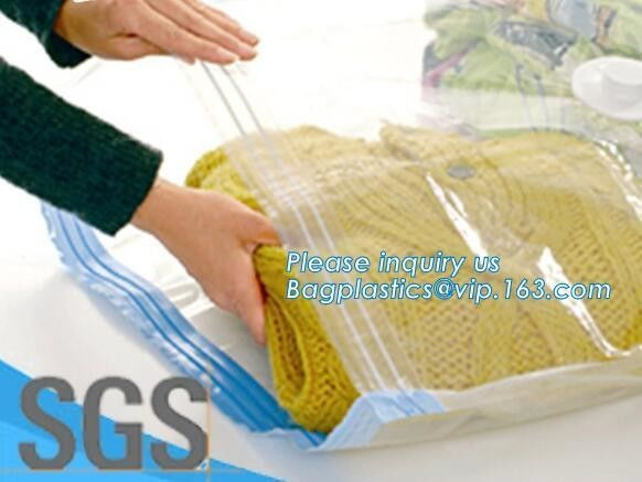 Compression Bag Space Saving, compressible vacumm seal storage bag, vacuum traveling bag without valve, bagplastics, pac