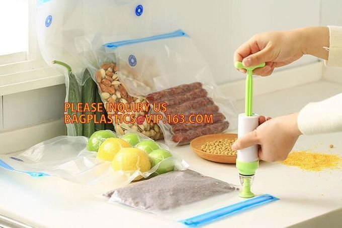 Vacuum Food Sealer Bags embossed insulated plastic vaccum bag  frozen food saver BAGS Textured Vacuum Storage Roll Bag F