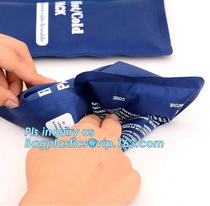 MEDICAL ICE PACK, chocolate milk fruits instant cooling ice pack Food cooler bag, Wine Bottle Gel Ice Pack PVC Wine Cool