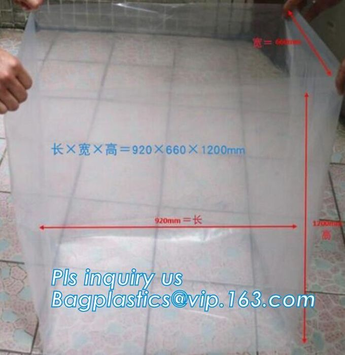 Disposable PE Plastic Pallet Covers bag on Roll, Waterproof