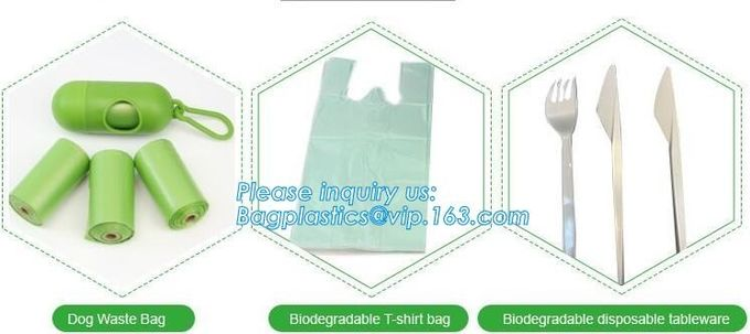 ok compost home certified 100% biodegradable nappy sacks with handle, Strong and durable Baby nappy sacks Made in China