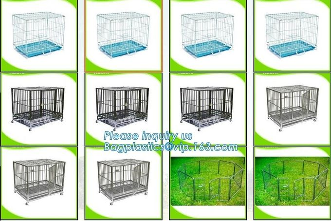 customized portable stainless steel aluminum metal folding big dog cage, dog kennels cages large outdoor durable dog hou