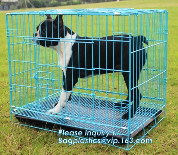 Commercial Stainless Steel Metal kennel Mesh Pet Dog Cage, Heavy duty Metal Welded Dog cage, Full Size Outdoor Kennel Co