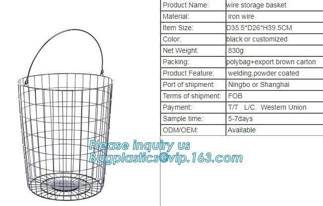 New Design Office Black Wire Mesh Baskets with Magnets, Flat Storage Baskets, Metal Wire 3 Tier Wall Mounted Kitchen Fru