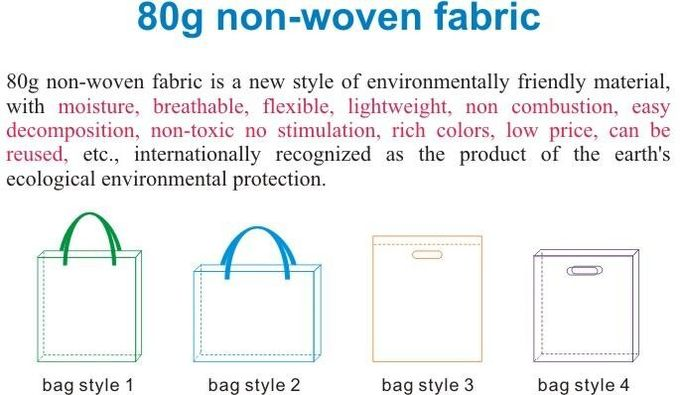 Customize Cheap Non Woven Bag T-Shirt Ultrasonic Non Woven Vest Bag For Supermarket,Gift Non Woven Bag Shopping Handle B