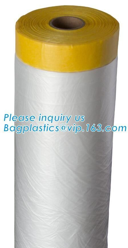 PAPER Adhesive Tape Masking Film For Car Painting, Speedy Mask - Indoor (2700mm) 20m with Masking Tape, RICE PAPER PAC