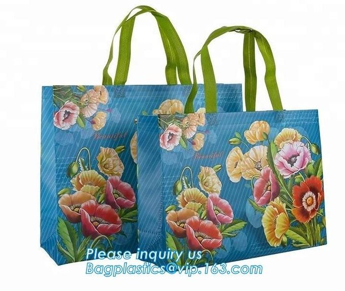Fashion pp non woven shopping bag,grocery laminated non woven bag,Logo Printed Shopping Bag,Tote Bags,fabric Woven Bag