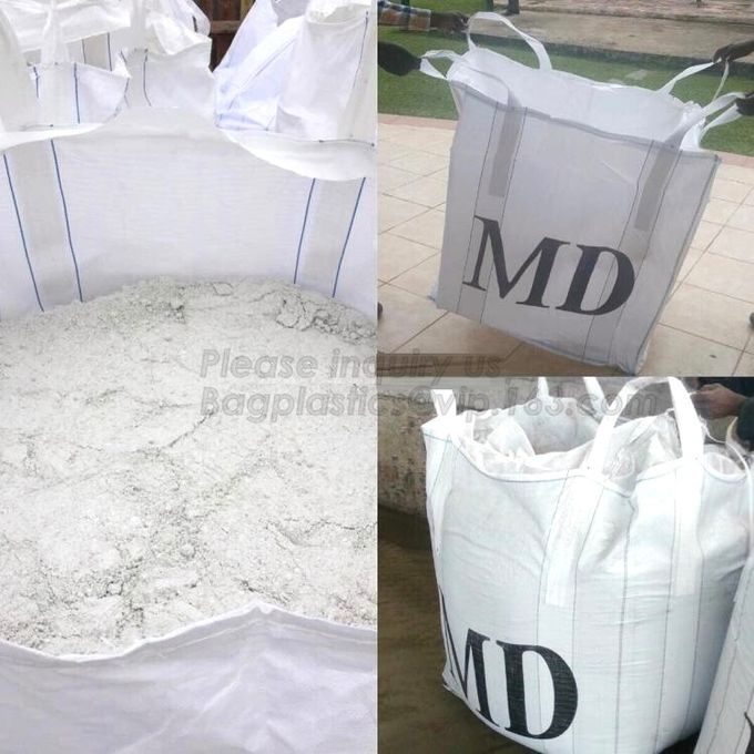 customizable PP u-panel baffle big bag /coated white woven PP jumbo bag/ventilated 4 panel baffle bag/all colors availab