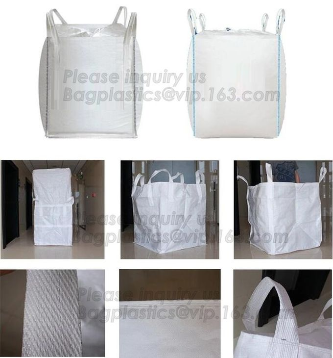 Big Fabric Raw Materials Bulk Bag Polypropylene Woven Sacks 1 Ton Tote Bags,Custom size fibc jumbo PP woven big bag supe