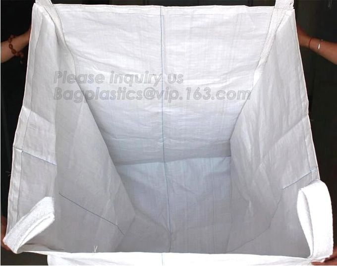 OEM 1 ton 2 ton PP woven big bags shipping jumbo bulk bag,High Quality 2 loops pp woven big bag,100% New Virgin Polyprop