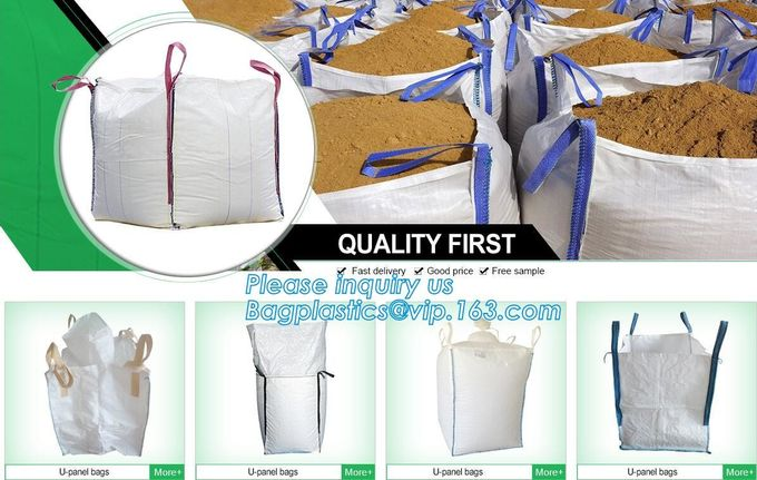 Free shipping big bulk bag 1.5 ton pp woven big bulk FIBC bags grain wheat flour super sack,woven big bag jumbo bags FIB