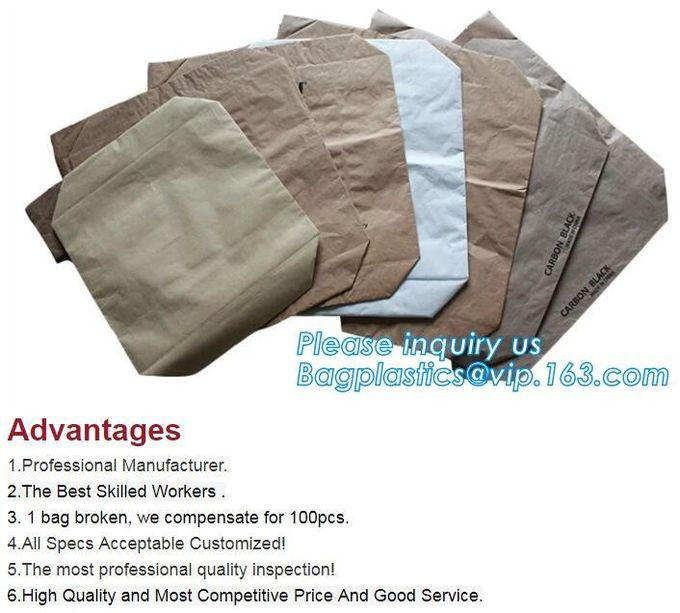 Top quality strong brown paper bags inner woven durable waterproof 25kg kraft paper bag china,Kraft paper Laminated PP W