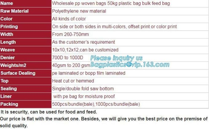 China PP Woven Bag/Sack for50kg cement,flour,rice,fertilizer,food,feed,sand,construction garbage pp woven bag for packin