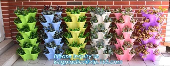 Green Gardening Supplies Simple Double Color Plastic,seeding nursery pots with high quality,vertical garden hydroponic p