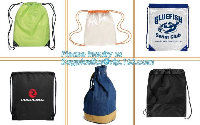 Portable Gym Shoes Cheap Sports Small Polyester Drawstring Bag,Customized polyester customized cheap folding shopping ba