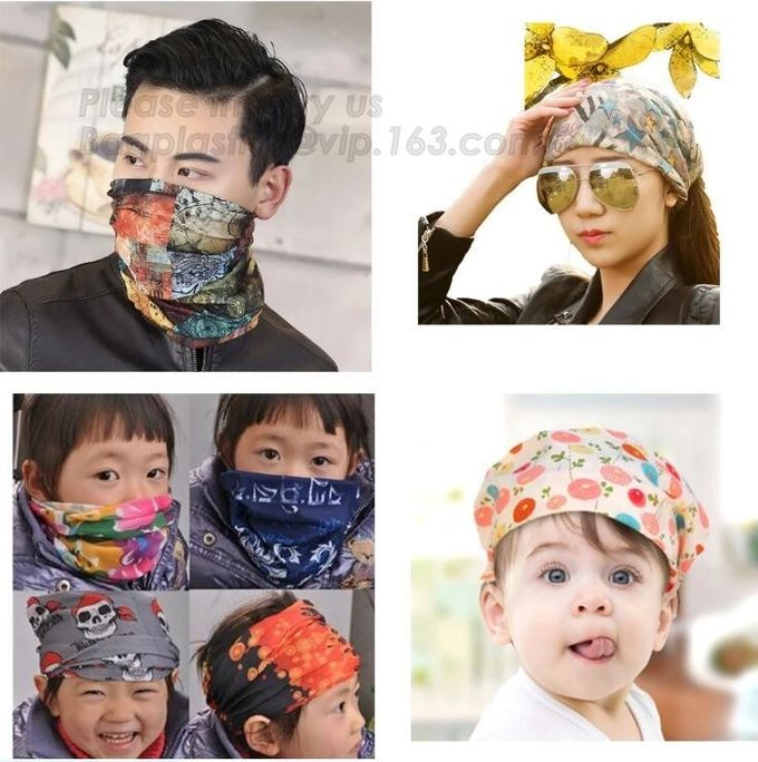 High Quality Outdoor Sports Sublimation Unique Fishing Face Mask Custom Seamlss Head Bandana For Men WOMEN OUTDOOR SPORT