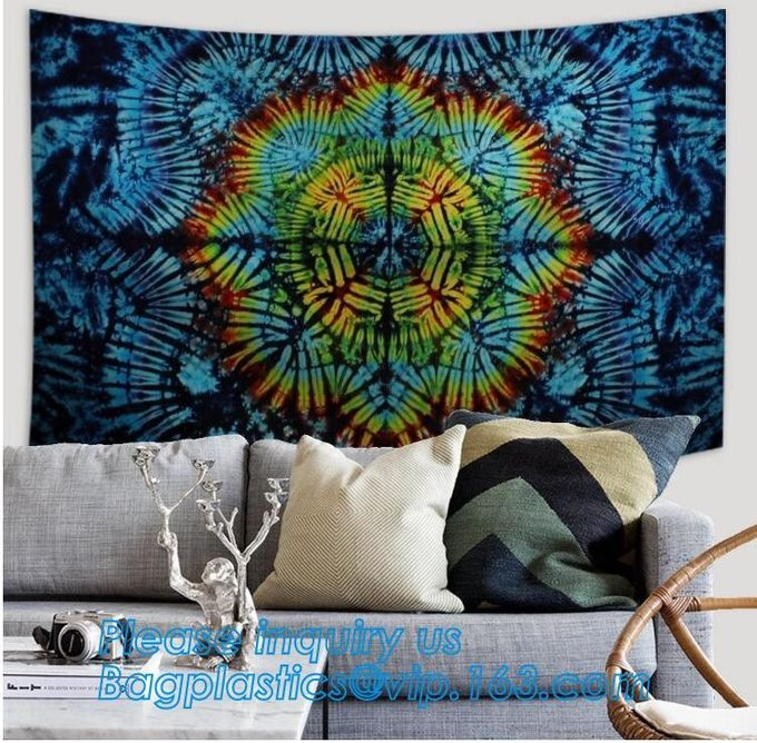 Bohemian wholesale indian tree of life sun moon Custom printed hippie tapestry wall hangings,wholesale home decor bohemi