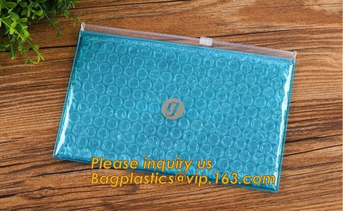 Protection Usage For Packaging Slider Bags Air Bubble Bags,Biodegradable pvc made shock resistance transparent clear zip