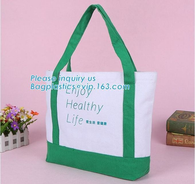 customized cotton canvas tote bag cotton bag promotion recycle organic cotton tote bags wholesale,Handle Canvas Bag Tote