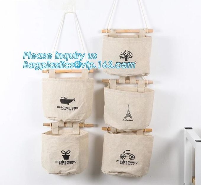 wholesale prices for canvas bag with rope handles for accessaries collections, hanging bags,Rational Construction Gracef
