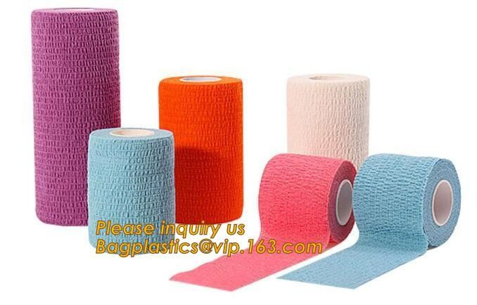 Sports medical elastic adhesive bandage strip linear Tensoplast cotton compression bandage,Athletic Tape Nonwoven Latex