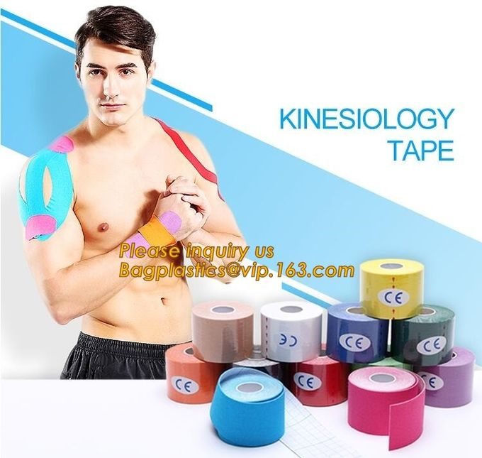 Kinesiology tape,OEM for Famous Brand Printed Kinetic Tape Kinesiology Tape Sports Tape,medical waterproof cotton elasti