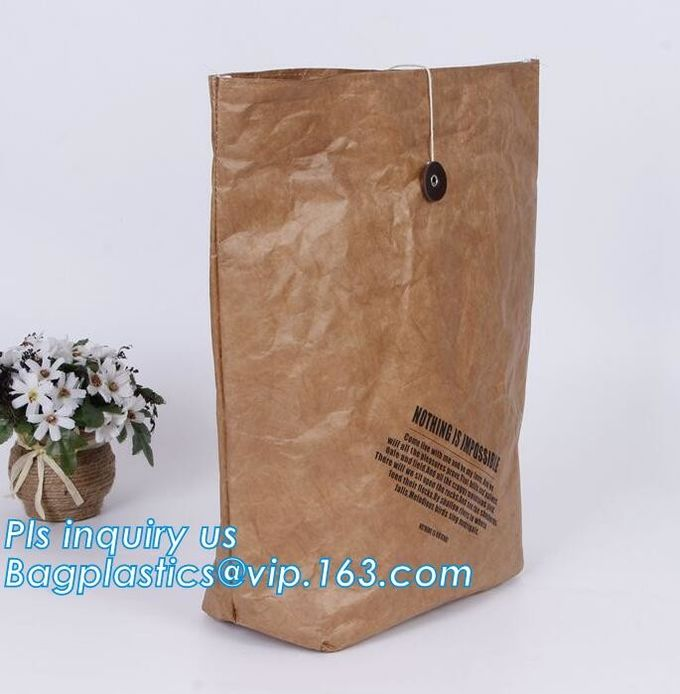 Tyvek Laundry bag,Tyvek Dupont Paper Bag For Lunch, Waterproof Paper Lunch Bag By Dupont Paper Travel Bag/ Package Bag/I