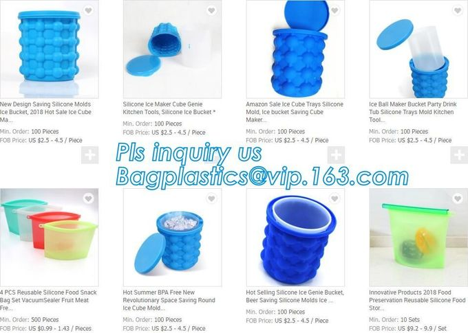custom ice bucket silicone ice cube maker genie silicone
