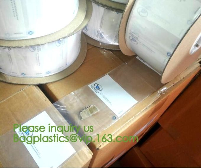 clear LLDPE easy tearing line pre-opened in roll bag,Factory custom LLDPE plastic autobag Preopened polybag on a Roll