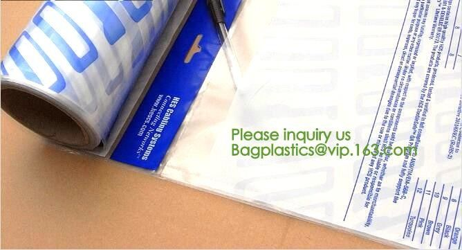 Auto Bags-White Opaque Front / Clear Back Bags for Autobag Machines,Preopened poly bag auto Bag on a roll,Accessories Pa